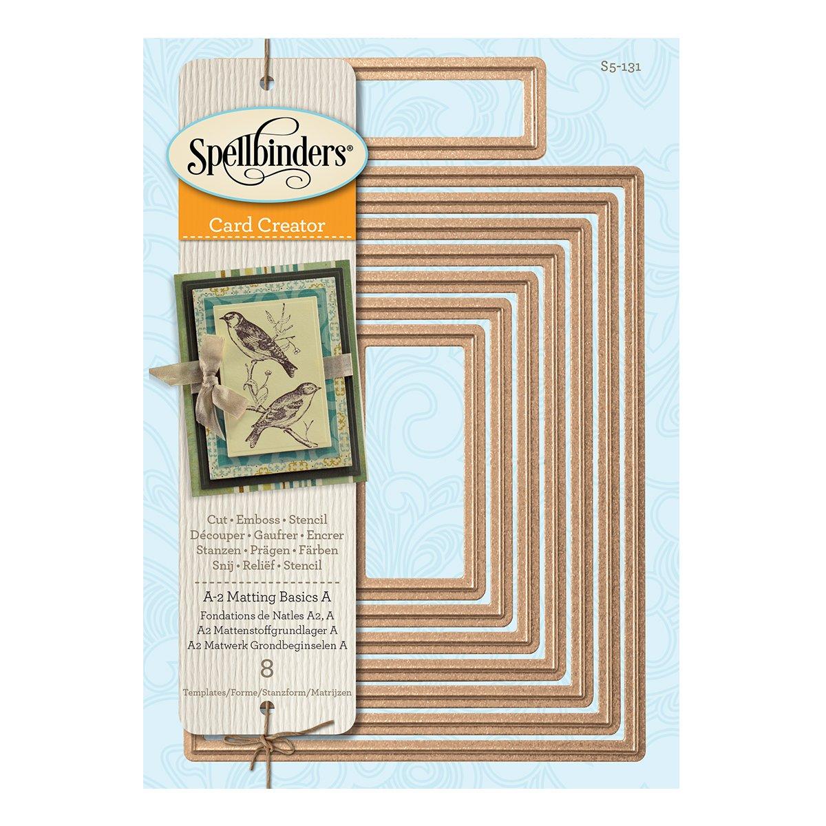 Spellbinders S5-131 Nestabilities Card Creator A-2 Matting Basics A Die Templates