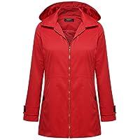 Zeagoo Women Lightweight Hooded Jacket Waterproof Windbreaker Rain Coat