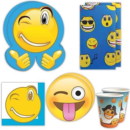 Blue Orchards Kit de Suministros para Fiesta de Emojis (70 ...