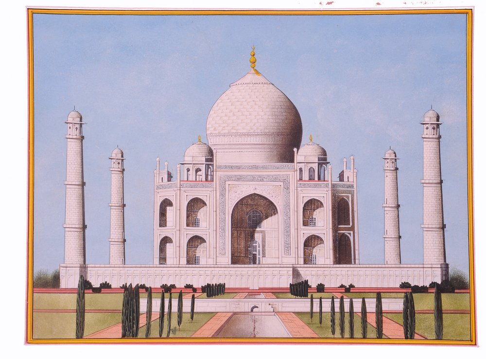 Indian Miniature Tajmahal Symbol of Love Art Painting Lively to Decor Your Home Hotel Office Bedroom Lobby or Living Room