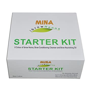 Mina I Brow Henna Starter Kit For Eyebrows And Eyelashes 8 Colours