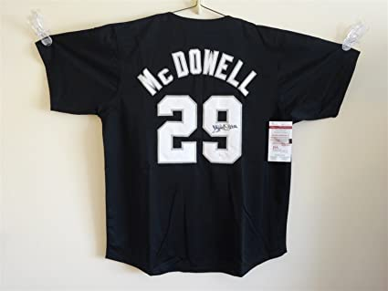 0adbe69f3ab ... white sox black majestic authentic jersey p steiner sports dd1d7 32f8d  top  quality image unavailable. image not available for. color jack mcdowell ...