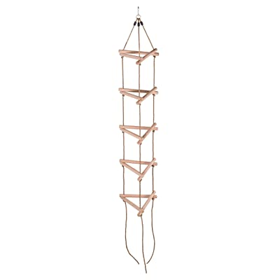 Swingan - 5 Steps Triangle Climbing Rope Ladder - Fully Assembled: Toys & Games