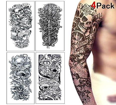 Tatouage Ephemere Homme Femme Tattoo Temporaire Faux Tatouage Bras