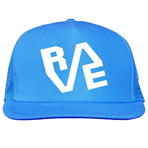 a889dc5a3a256 RAVE design Bright neon truckers mesh snap back hat in Neon Blue - One Size  at Amazon Men s Clothing store
