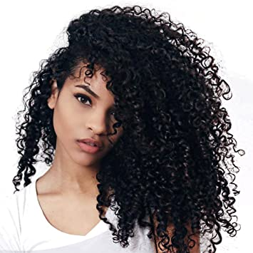 Amazon cici collection clip in human hair extensions cici collection clip in human hair extensions brazilian virgin african american 4b 4c afro kinky curly pmusecretfo Choice Image