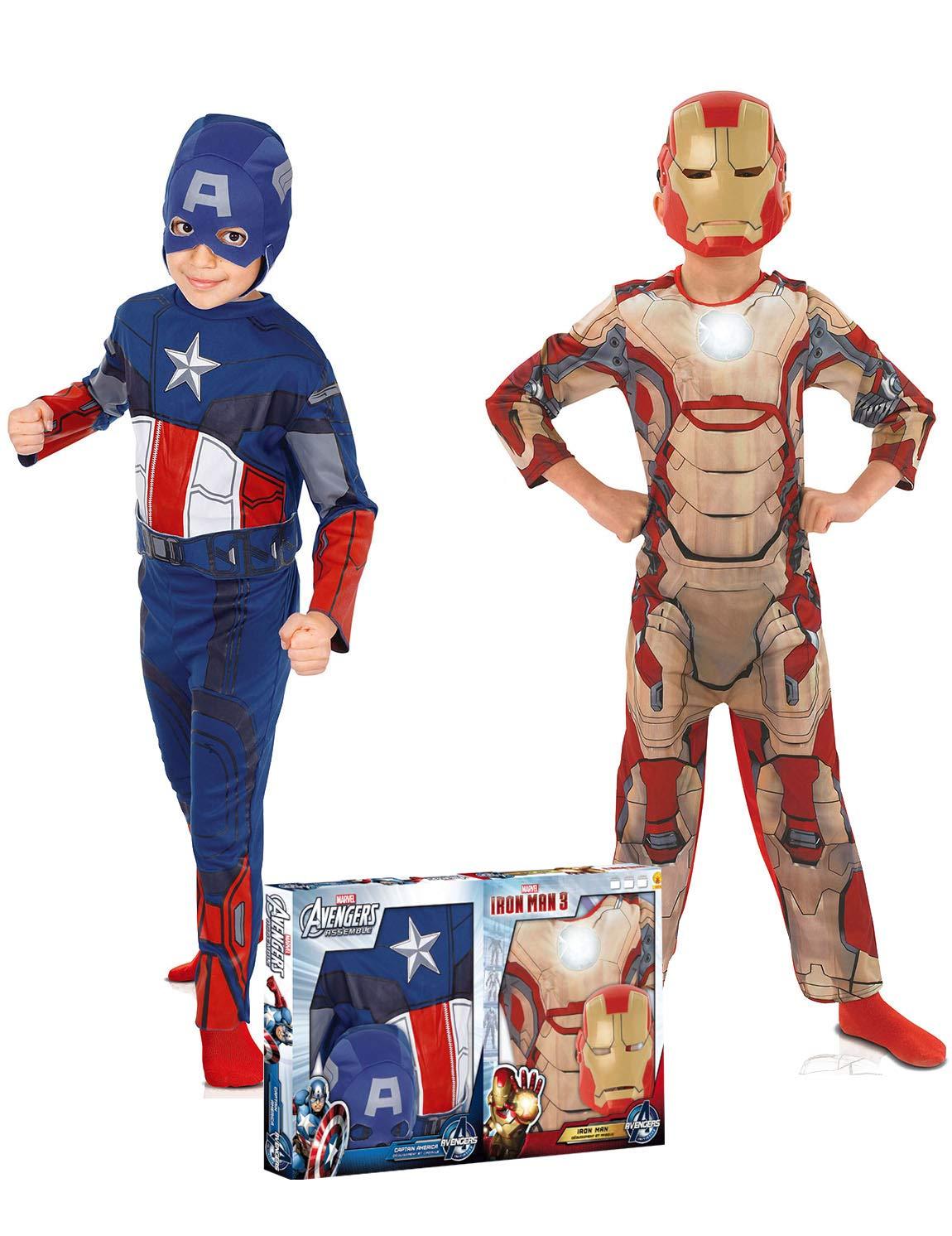 Rubies Pack disfraz niño Capitán América? e Iron Man? Los ...