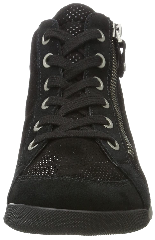 Ara Damen Rom-STF 12-44410 Schwarz Hohe Sneakers, Schwarz 12-44410 (Schwarz,gun) 47dbc5