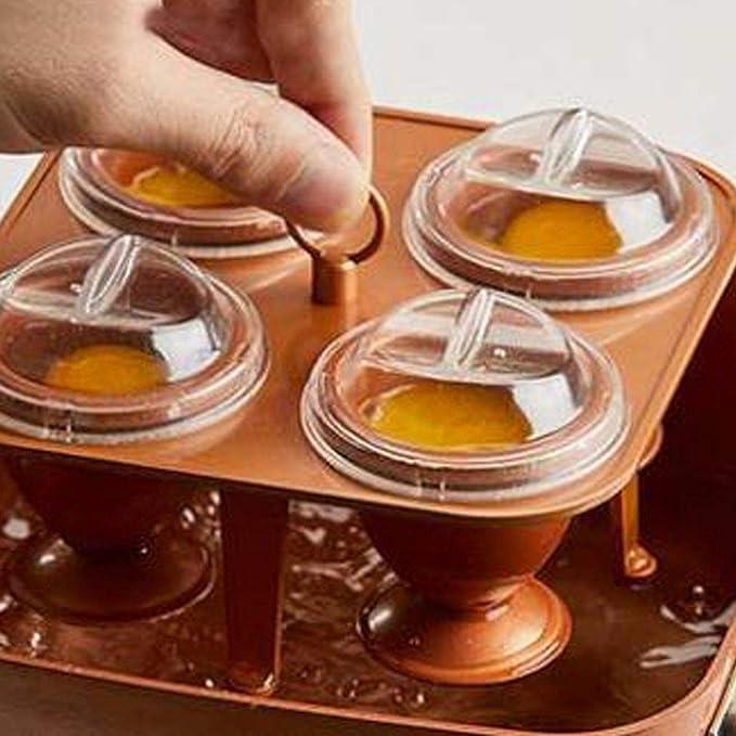 Huevos de cobre de metal para cocinar, herramienta antiadherente para horno de microondas con tapa, huevo de cocinero y horneado (color: cobre): Amazon.es: ...