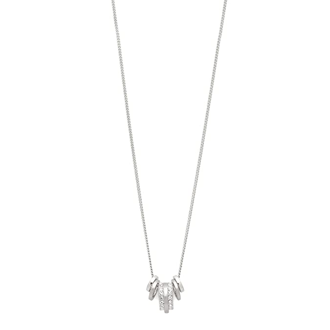 Kette Herz Silberfarben Kristall Angenehm Im Nachgeschmack Modeschmuck Uhren & Schmuck