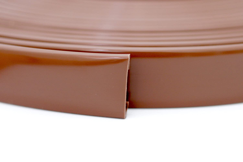 10m PVC Handlauf Treppenhandlauf Kunststoffhandlauf 40x8 mm braun