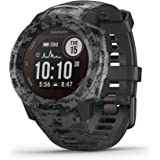 Garmin Instinct Solar, Solar-Powered Rugged Outdoor Smartwatch, Built-in Sports Apps and Health Monitoring, Graphite…