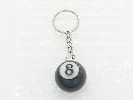 Sepia 1 (número 8 ocho minibilliard billar bola clave cadena ...