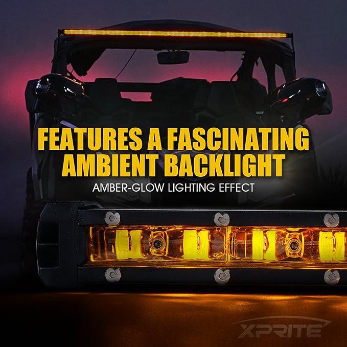 "Xprite 26/"" 120W Slim Led Light Bar CREE Ultra Lightbar Offroad ATV SUV 4x4 Truck"