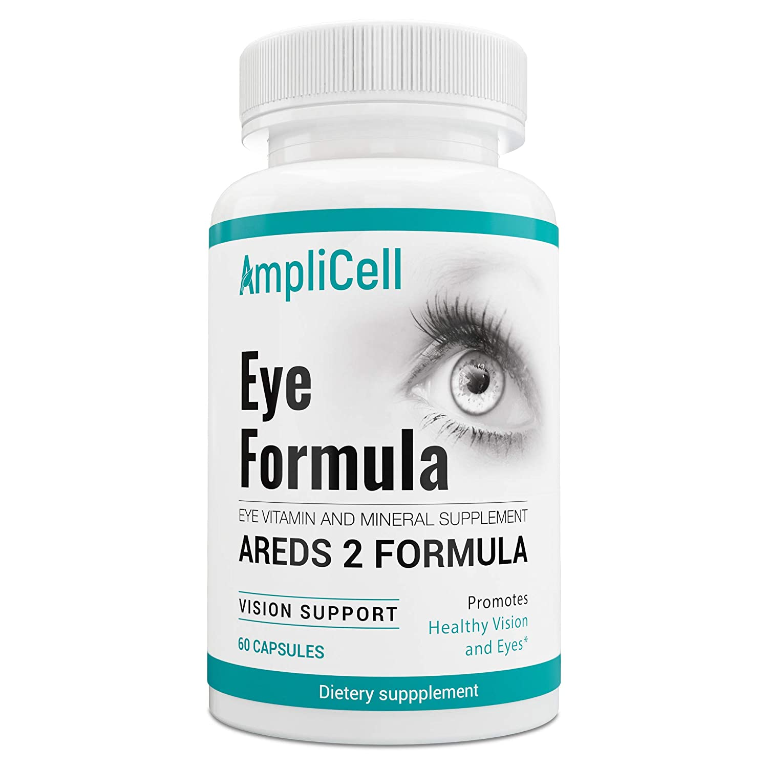 AREDS 2 Eye Vitamins with Lutein and Zeaxanthin Supplements – FDA Certified – Potent Pure AMD Eye Health Supplements Support Comfort, Clarity, Color Perception, Night Vision, and Depth Perception