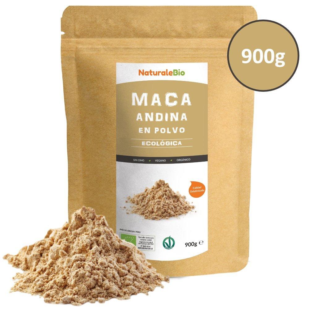 Maca Andina Ecológica en Polvo [ Gelatinizada ] 900g | Organic Maca Powder Gelatinized. 100% Peruana, Bio y Pura, extracto de raíz de Maca Organica.