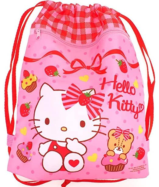 b790d0bf82 Image Unavailable. Image not available for. Color  Hello Kitty Drawstring  Backpack Bag