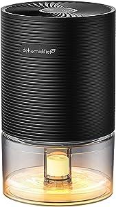 Dehumidifier Kloudi 2200 Cubic Feet (215 sq ft) Mini Dehumidifier for Damp Rid, Portable and Ultra Quiet Small Dehumidifiers for Home, Basements, Bedroom, Wardrobe Use