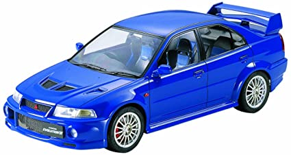 Tamiya 300024213 - Maqueta de Coche Mitsubishi Lancer Evolution Vi (Escala 1:24), Color Azul
