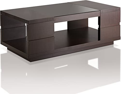 ioHOMES Harbach Modern Coffee Table, Walnut