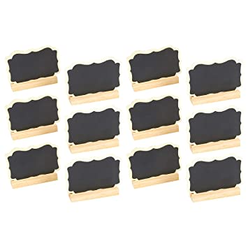 Lovely Amazon.com : Set of 12 Mini Chalkboard Signs with Stand  MQ57