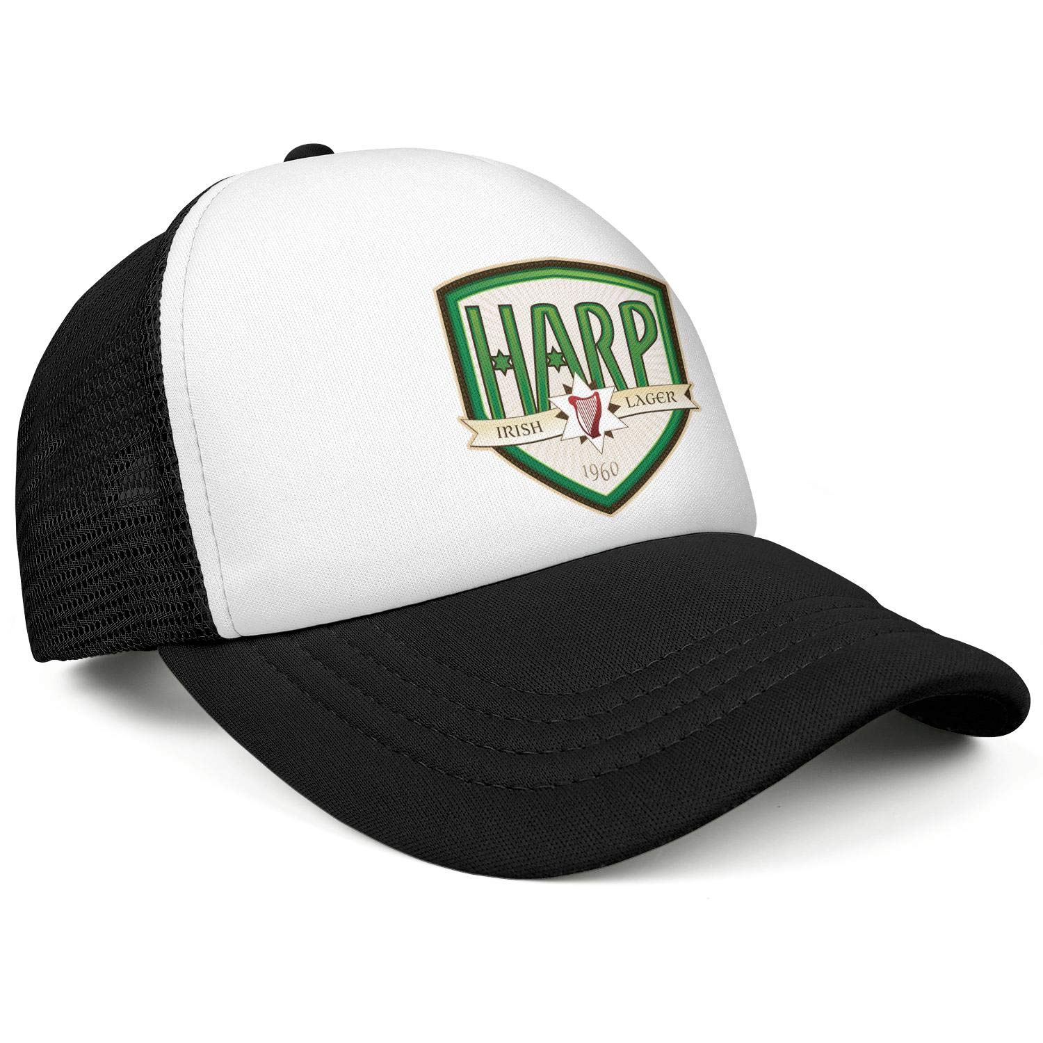 Adjustable Baseball Cap One Size Trucker Hat All Cotton Coolcaps Mens Harp-Lager-.-Logo