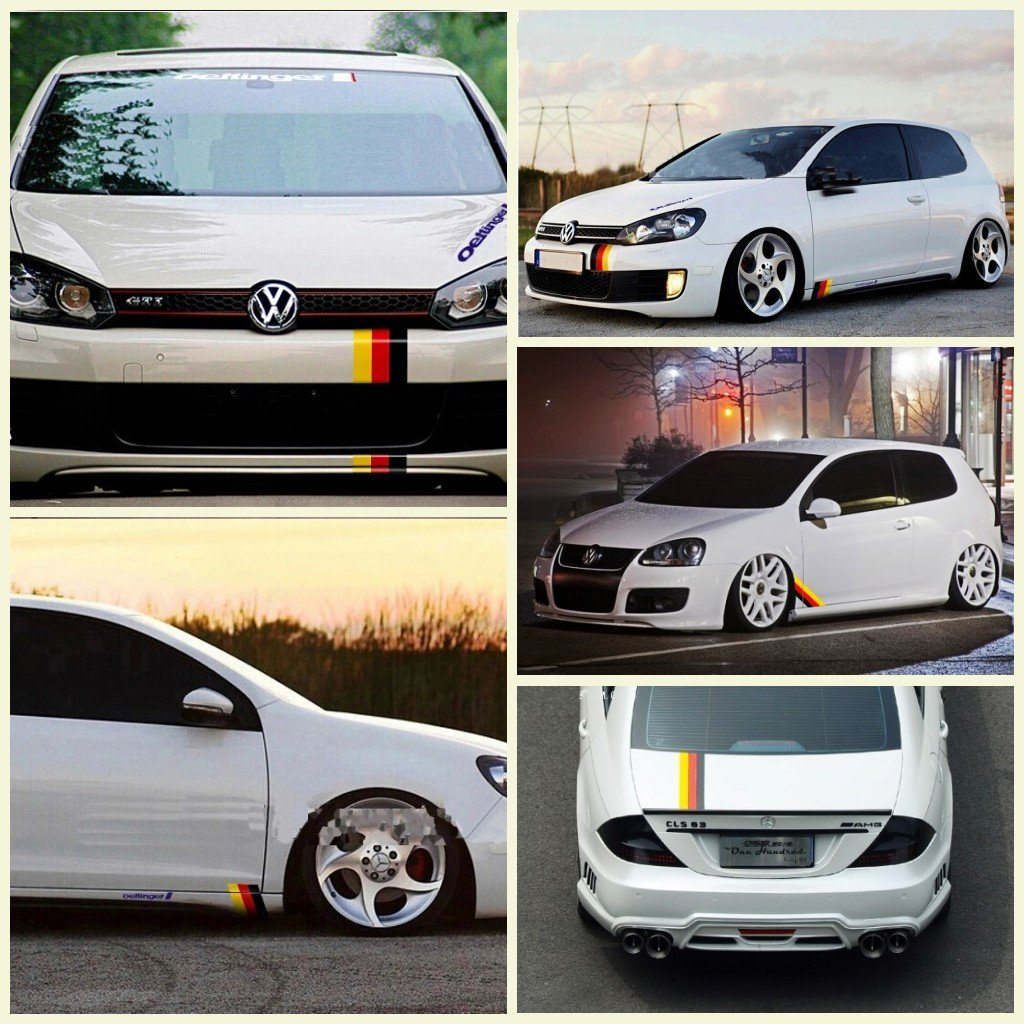 Amazoncom DOKOT Germany Flag Racing Stripe Car Sticker Decal - Decal stickers for carspopular scratch stickbuy cheap scratch stick lots from china