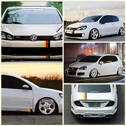Dokot germany flag racing stripe car sticker decal for grille fender hood bumper trunk for