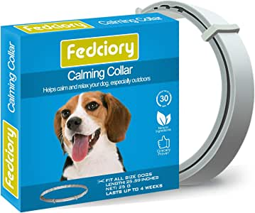 Fedciory Calming Collar for Dogs Adjustable Pheromone Calm Collars fits All Small Medium and Large Dog to Relieve Anxiety -25.59 Inches