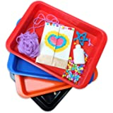 Doodle Hog Crafts Arts and Crafts Multi Purpose Medium Organizer Tray Set, Medium (Pack of 4)