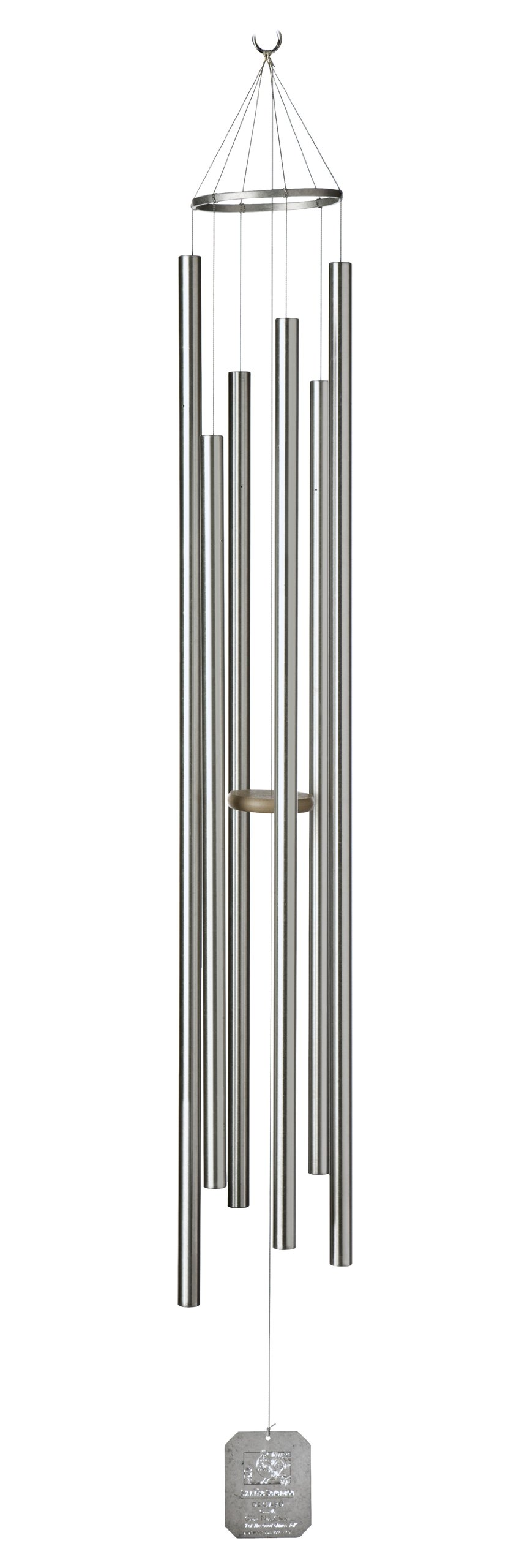 Grace Note Chimes 7ST Regular Steeple Sunrise Serenade Wind Chimes, 57-Inch, Silver by Grace Note Chimes (Image #1)