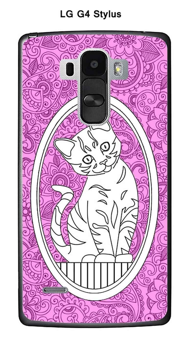 Onozo Carcasa LG G4 Stylus Design gato de diseños fondo rosa ...