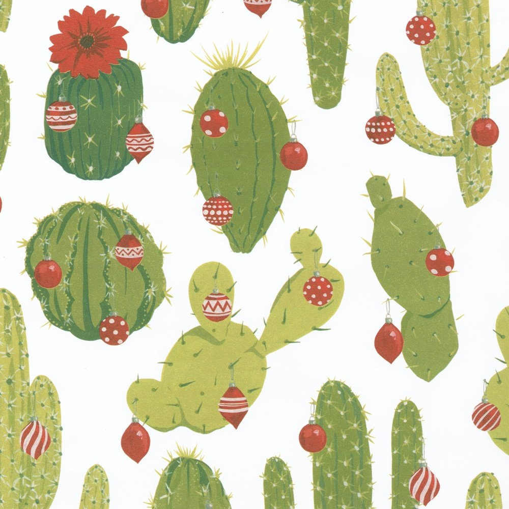 Caspari 2, 4m Merry cactus rotolo di carta da regalo–multicolore 9698RC