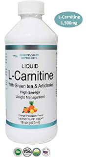 Beaver Brook Liquid L-Carnitine 1,500mg with Green Tea & Artichoke Supports Energy Metabolism