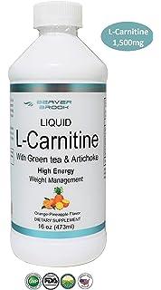 Beaver Brook Liquid L-Carnitine 1,500mg with Green Tea & Artichoke Supports Energy Metabolism