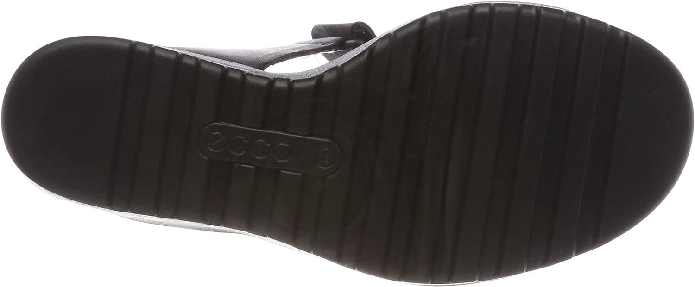 ECCO Freja, Sandales Bout Ouvert Femme Noir Black 51022