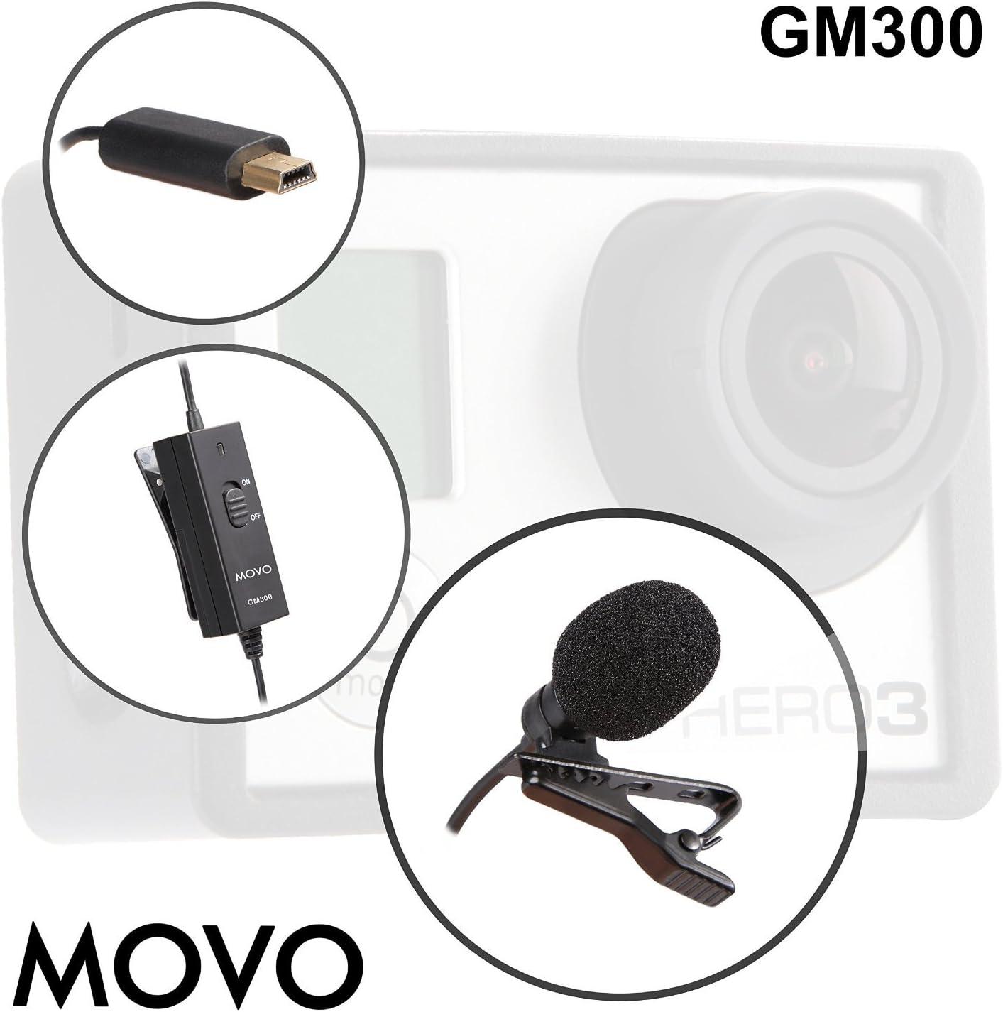 Movo GM300 Micrófono de Solapa Corbata Condensador Omnidireccional ...