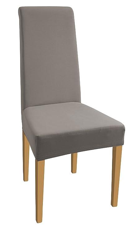 SCHEFFLER-HOME Natalie 2 fundas de sillas, estirable Cubiertas de la sillas, extraíble elástica funda, tela lycra con banda elástica para un ajuste ...