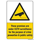 Clickforsign Warning Sign Self Adhesive Vinyl Sticker for Walls and Doors, 200 x 150 mm