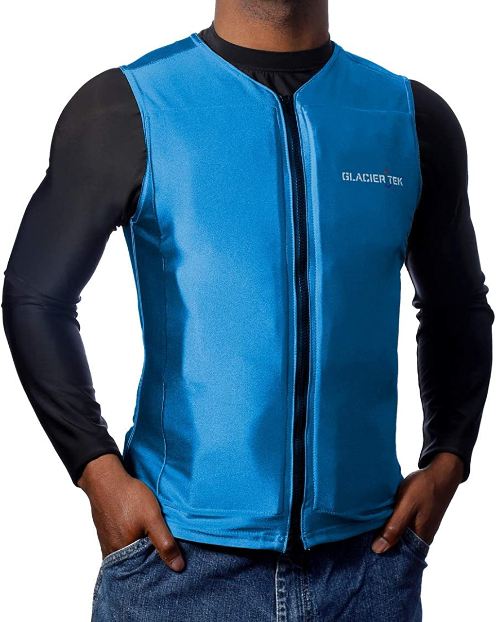 Glacier Tek Flex Vest Cool Vest with Nontoxic Cooling Packs