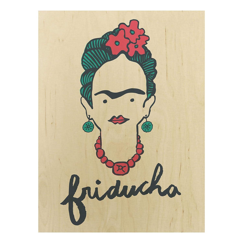 Bilderwelten Frida Kahlo - Cuadro de Madera (Formato Vertical, 4:3 ...