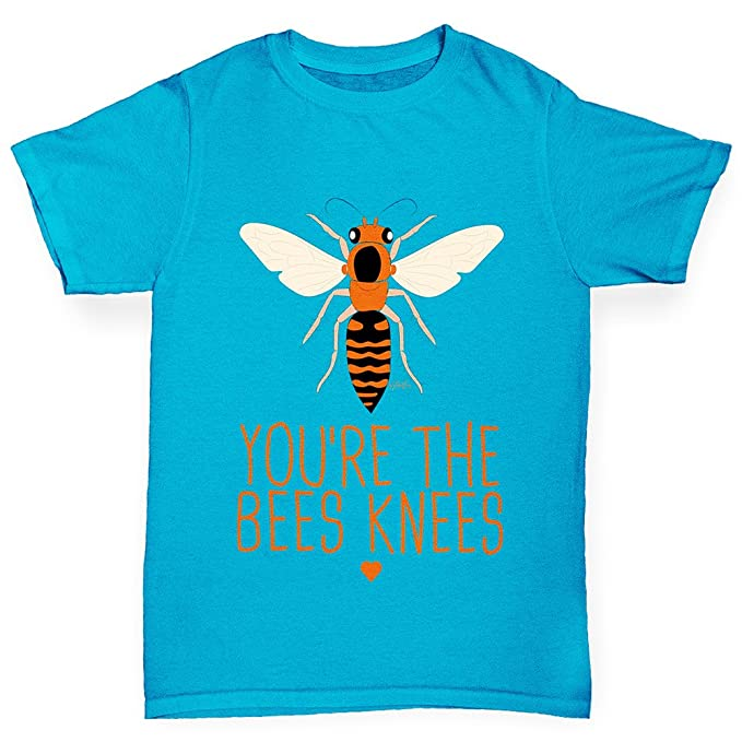 dcad6770 Amazon.com: TWISTED ENVY You're The Bees Knees Boy's Printed Cotton T-Shirt,  Comfortable and Soft Classic Tee with Unique Design: Clothing