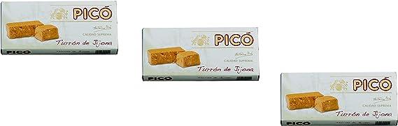 Picó - Pack incluye 3 Turron de Jijona – Turron blando de Almendras - Calidad Suprema -200gr (Sin Gluten): Amazon.es: Alimentación y bebidas