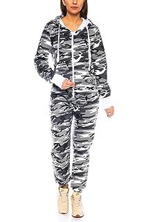 Crazy Age Herren Damen Partnerlook   Jumpsuit Overall Strampler Latzhose  Onesie Sweat Camouflage Design   Warm 10ce4664c2