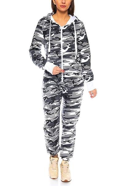 populärer Stil online zum Verkauf verschiedene Farben Crazy Age Herren Damen Partnerlook   Jumpsuit Overall Strampler Latzhose  Onesie Sweat Camouflage Design   Warm Weich Sportlich
