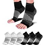 Compression Socks Sleeves (6 Pairs) for Heel Pain Relief, Best Compression Foot Sleeves Nano Socks with Arch Support for…