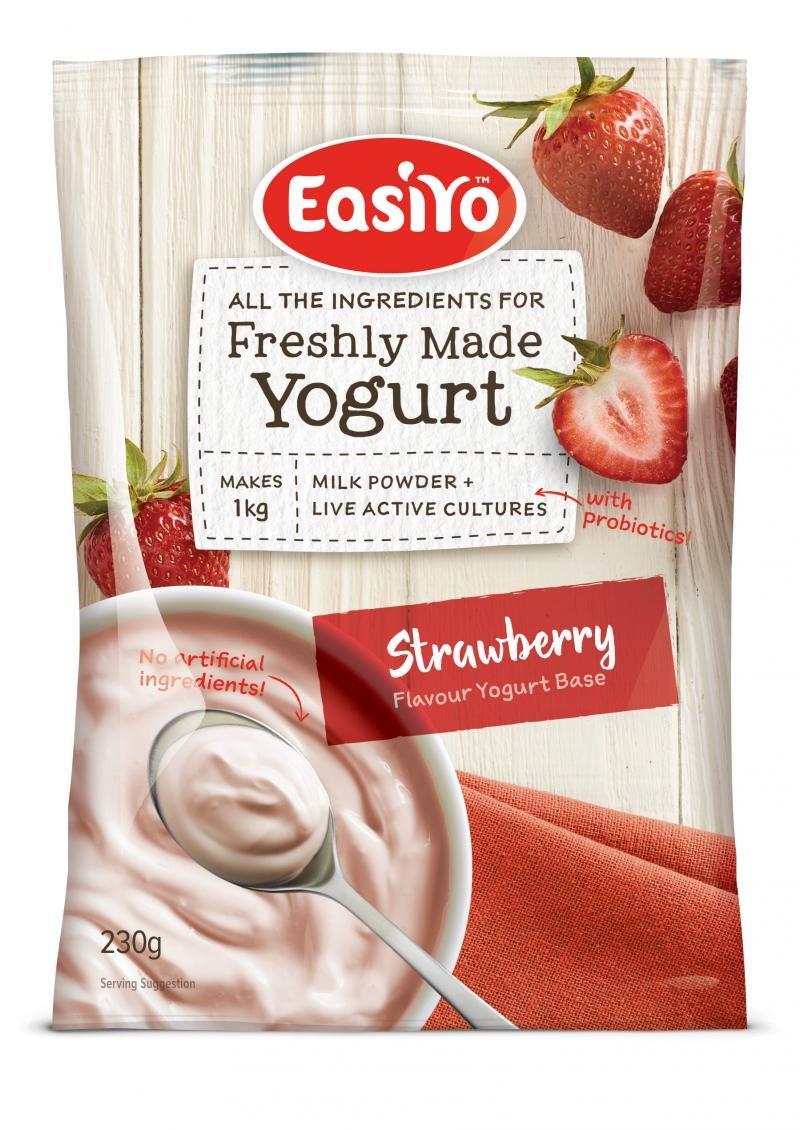 Easiyo Sweet Strawberry Yogurt Base and Culture, 8-1/2-Ounce by EasiYo