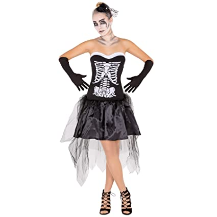 TecTake dressforfun Disfraz de Esqueleto para Mujer | Detalles Muy ...
