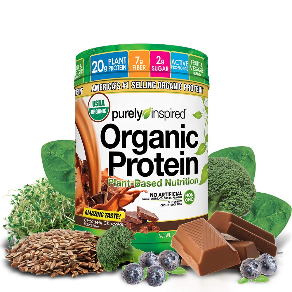 Purely Inspired Organic Protein Shake Powder, 100% Plant Based with Pea & Brown Rice Protein (Non-GMO, Gluten Free, Vegan Friendly), Decadent Chocolate, 1.5lbs by Purely Inspired (Image #6)