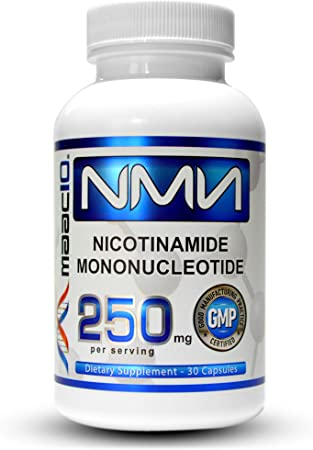 NMN 250mg Capsules - MAAC10 NMN Real Nicotinamide Mononucleotide Supplement Stabilized Form (2 Capsules = 500mg, 4 = 1000mg) Effective NAD Precursor More Stable Than Nicotinamide Riboside (30 Count).